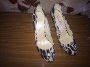 Новые стильные леопардовые туфли! 700 леев!